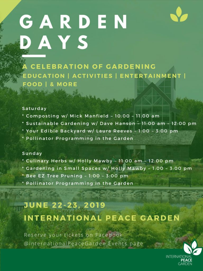 International Peace Gardens - Garden Days @ International Peace Gardens | Boissevain | Manitoba
