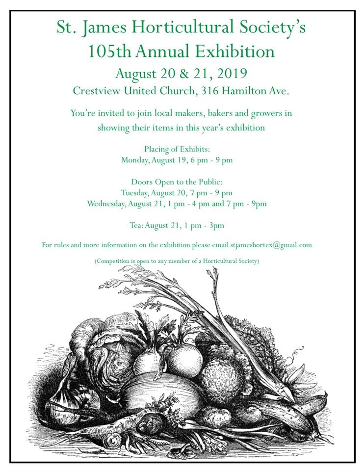 St. James Horticultural Society's Annual Exhibition @ Crestview United Church | Winnipeg | Manitoba | Canada