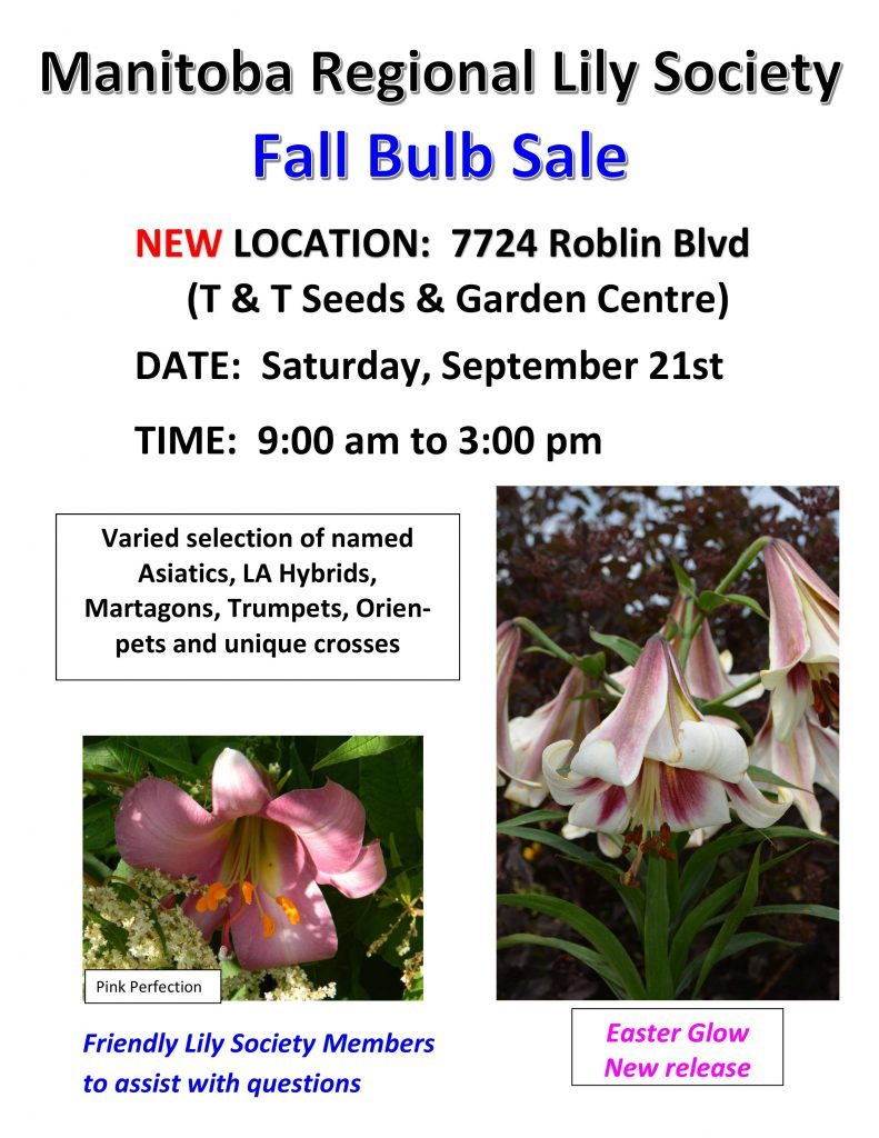 Lily Bulb Sale-Manitoba Regional Lily Society @ T & T Seeds and Garden Centre