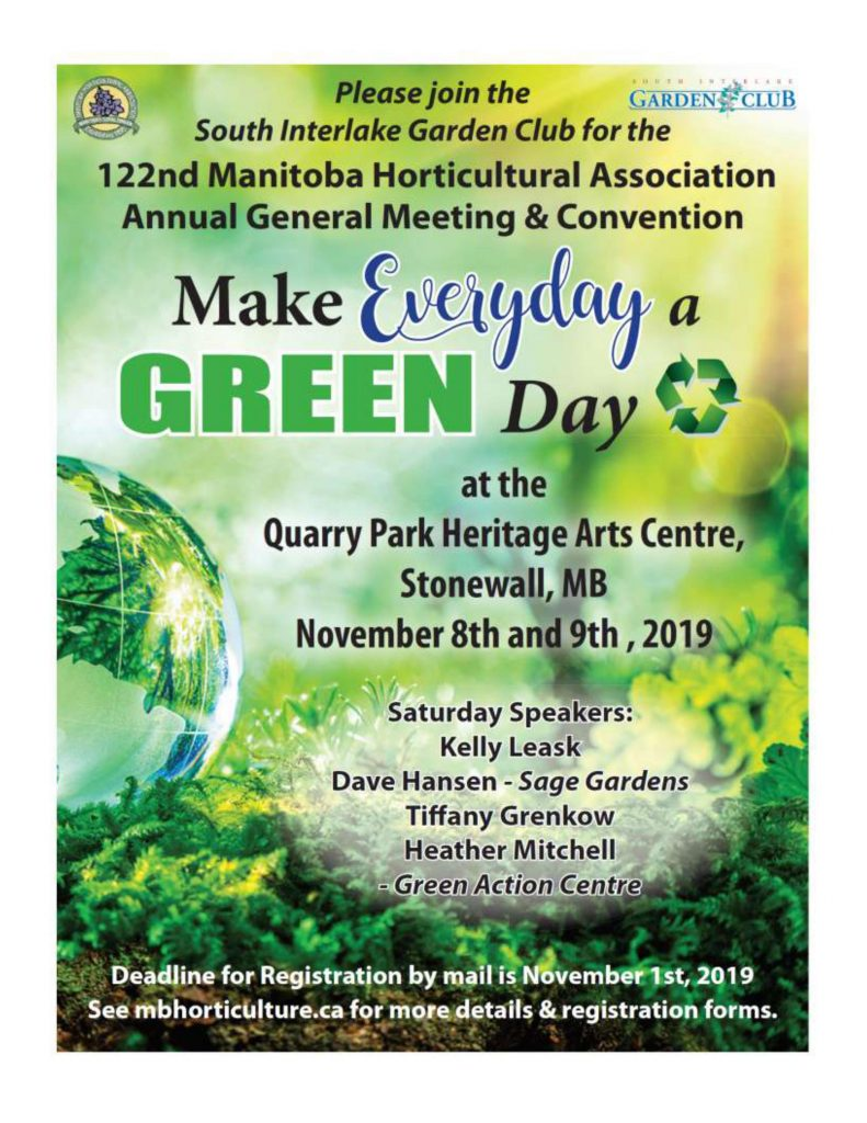 Manitoba Horticultural Association - Meeting & Convention @ Quarry Park Heritage Arts Centre