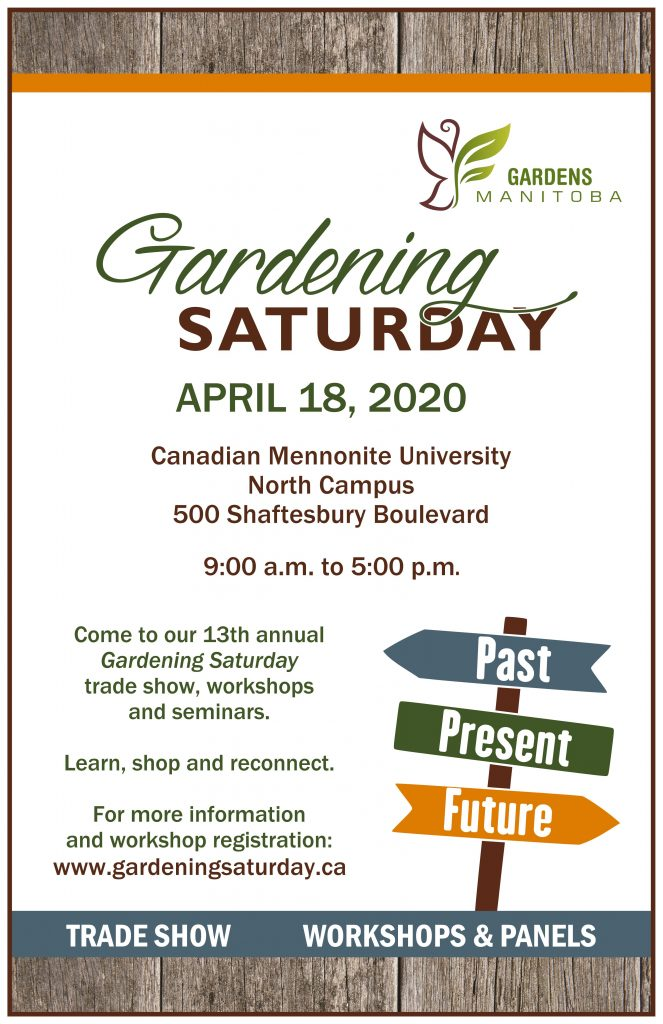 Gardening Saturday - Winnipeg @ Canadian Mennonite University North Campus