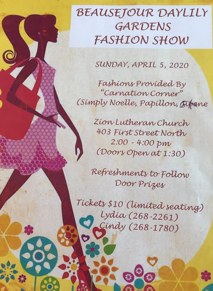 Beausejour Daylily Fashion Show @ Zion Lutheran Church