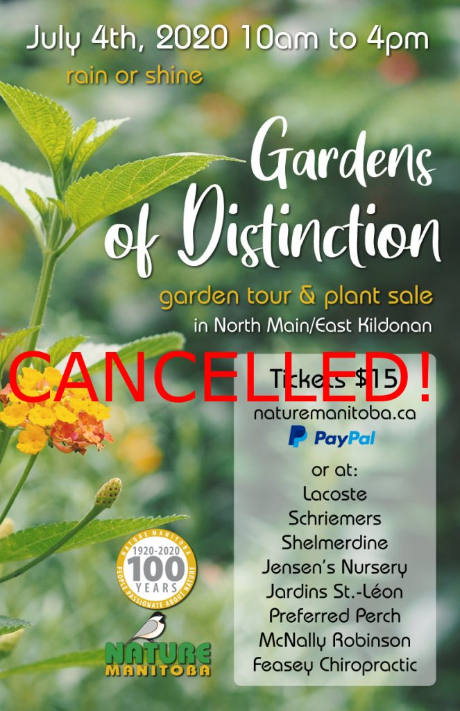 CANCELLED! - Nature Manitoba - Gardens of Distinction