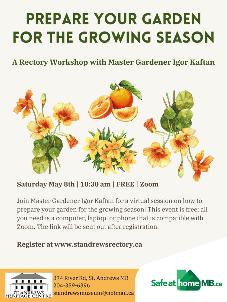 Prepare your Garden for the Growing Season @ Zoom meeting online